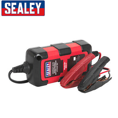 Sealey SMC11 Compact Intelligent Battery Charger Maintenance Trickle 0.8A 3 Step
