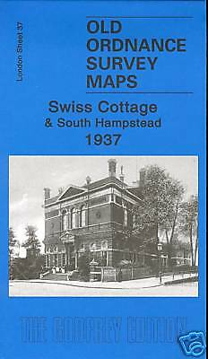 Old Ordnance Survey Map Swiss Cottage & South Hampstead 1937