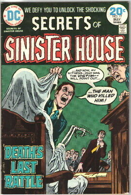 Secrets of Sinister House Comic Book #17 DC Comics 1974 FINE+