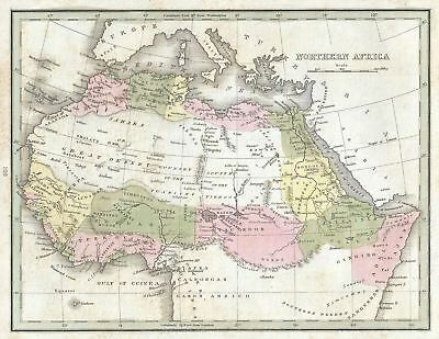 1835 Bradford Map of Northern Africa