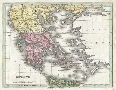 1835 Bradford Map of Greece