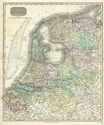 1817 Thomson Map of Holland (The Netherlands)