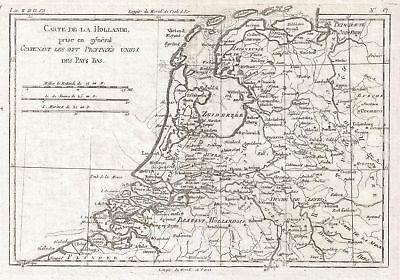 1780 Raynal and Bonne Map of Holland and Belgium