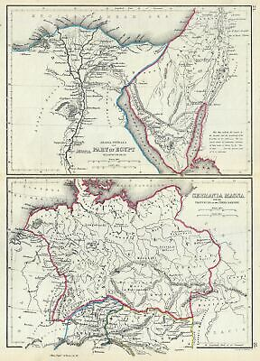 1867 Hughes Map of Egypt and Germany in Antiquity