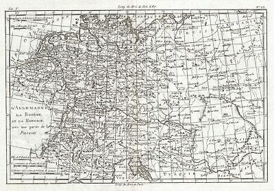 1780 Raynal and Bonne Map of Germany, Bohemia, and Poland