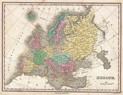 1827 Finley Map of Europe