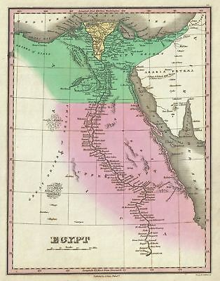 1827 Finley Map of Egypt