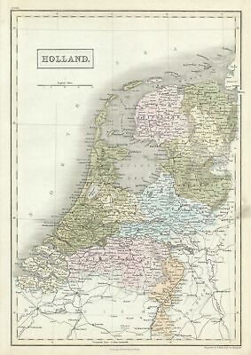 1851 Black Map of Holland