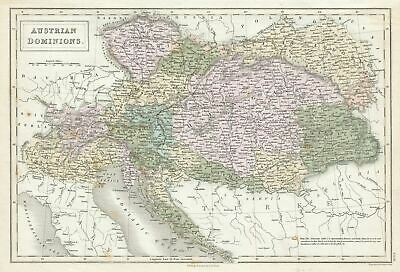 1851 Black Map of the Austrian Empire