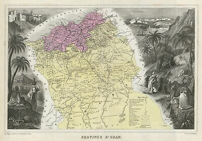 1878 Migeon Map of the Oran Province, Algeria