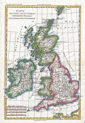 1780 Raynal and Bonne Map of British Isles