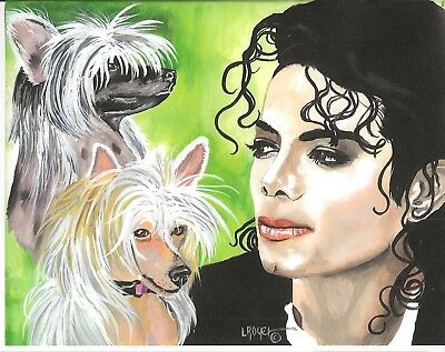Crested Michael Jackson Art Print 8X10 L Royer #660 Biography Certificate Of A