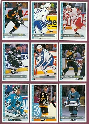 1992-93 Opc O Pee Chee Hockey Card 265-396 & Anniversary Series Wrapper See List