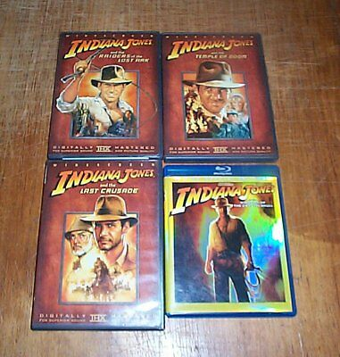 Indiana Jones Collection (DVD, 2003) 1-Blu-ray 3-DVDs