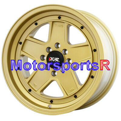 XXR Wheels 532 16 x8 +20 Gold Rims 5 Spokes 4x100 Stance 95 Honda Civic SI Hatch
