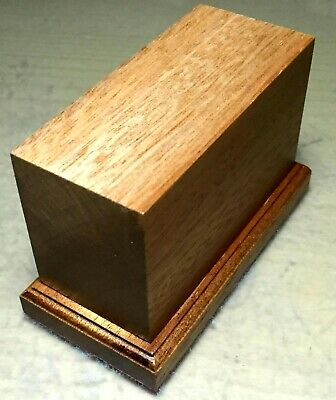 BASETTA BASE IN LEGNO MOGANO PER FIGURINI - PLINTH DISPLAY WOOD BASE 9x4 h6