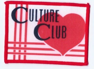 Culture Club Boy George heart vintage 1980s SEW-ON PATCH