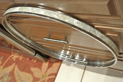 "1970's GRETSCH 22"" BASS DRUM HOOP with WHITE PEARL INLAY for YOUR DRUM SET! D162"