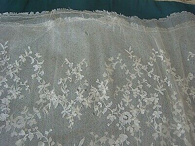 ** VINTAGE LACE LOWER SKIRT - 56 cms LONG - 162 cms WIDE JOINED IN CIRCLE  [YYY]