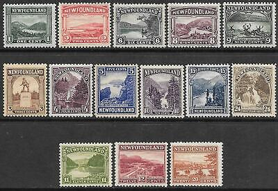NEWFOUNDLAND 1922-24 set 14, mint hinged. SG 149/162. Cat.£180.