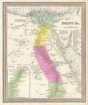 1854 Mitchell Map of Egypt