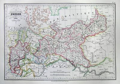 1837 Malte-Brun Map of Northern Germany or Prussia