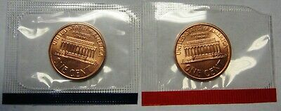 1990 P and D Lincoln Cents Grading GEM BU in Original Mint Cello Packs FREE S&H