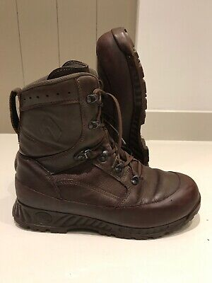 Size 10 genuine brown combat high liability haix boots!Very Good-grade 1!