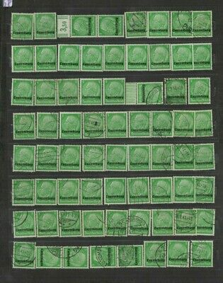 FEB 180 Luxembourg - Deutsches Reich Occupation HINDENBURG USED/MH/MNH stamps