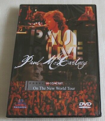 PAUL McCARTNEY IN CONCERT ON THE NEW WORLD TOUR DVD MADE IN BRAZIL LET IT BE