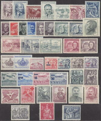 Czechoslovakia - 1949 Complete Year Set Stamps- Jahrgang - **mnh** - Cheap !!