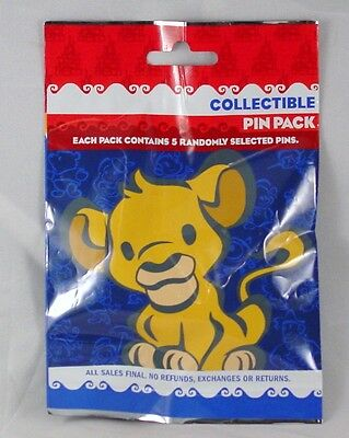 Disney Pin Collectible SIMBA other CUTIES  Mystery Pack Random SEALED Set of 5