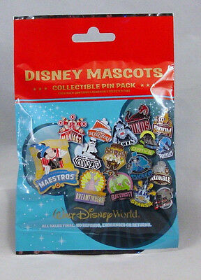 Disney Pin Collectible MASCOTS Mystery Pack Randomly Selected SEALED Set of 5