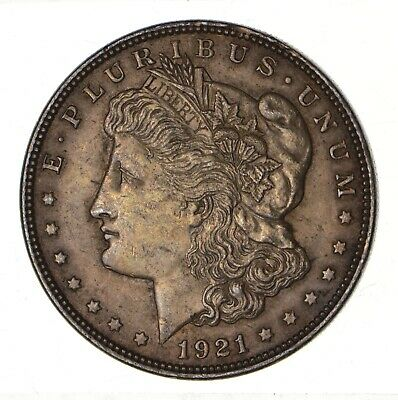 1921 - Morgan Silver Dollar - Last Year - 90% - US Coin *108