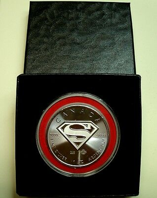 *BUY NOW! 1 Troy oz 9999 FN CAN SILVER *Superman* COIN(BU)$5-Privy+Extras-2016!
