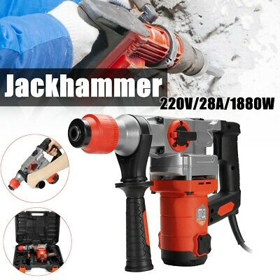 1800W Demolition Jack Hammer Rotary Commerical Electric Jackhammer Drill AU SHIP