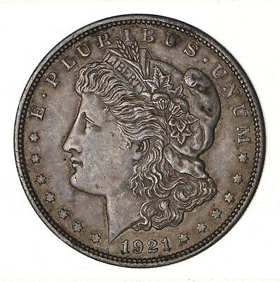 1921 - Morgan Silver Dollar - Last Year - 90% - US Coin *099