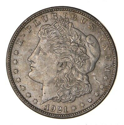 1921 - Morgan Silver Dollar - Last Year - 90% - US Coin *084