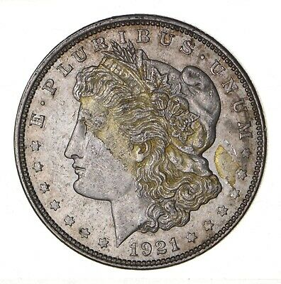 1921 - Morgan Silver Dollar - Last Year - 90% - US Coin *096