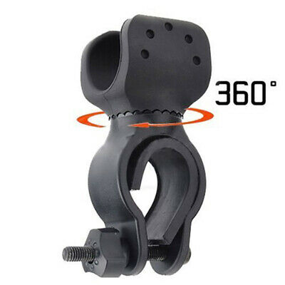 2 x Bicycle Flashlight LED Torch Mount Holder 360° Rotation Cycling Clip Clamp