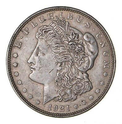 1921 - Morgan Silver Dollar - Last Year - 90% - US Coin *092