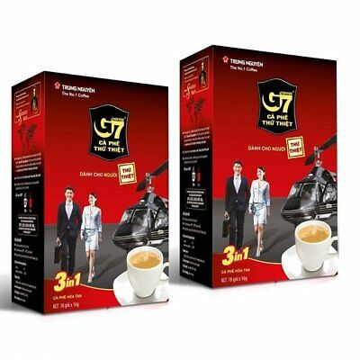 G7 3-in-1 Instant Coffee mix 22 sachet 16gr Trung Nguyen Vietname Coffee fastshi