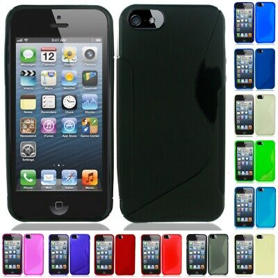 Apple iPhone 5/5S/SE TPU Rubber S-Style Slim Grip Cover Case Skin