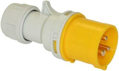 Pce - 013-4 - 16a 110v 3p Cee Industrial Plug, Ip44, Yellow