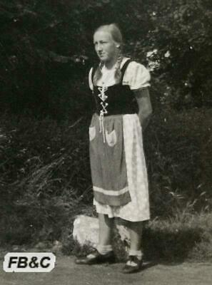 Original 1930s German Photograph - Girl in Traditional Dress