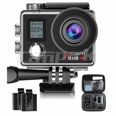 Campark Action Camera 4K FHD WiFi Waterproof Camcorder Sports Cam Remote Control