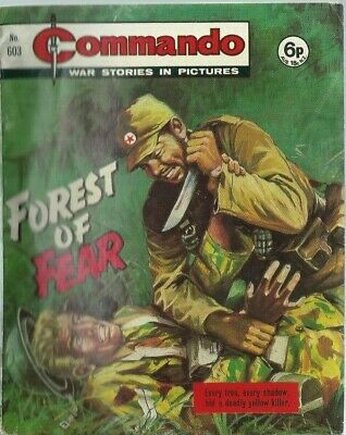Forest Of Fear,commando War Stories In Pictures,no.603,war Comic,1971