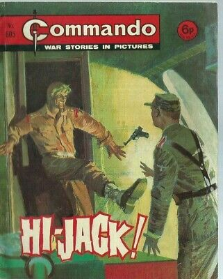 Hi-Jack,commando War Stories In Pictures,no.605,war Comic,1971