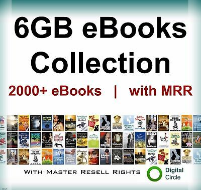 eBooks Package 2000 Collection 6GB with Master Resell Rights PDF-Free Shipping.