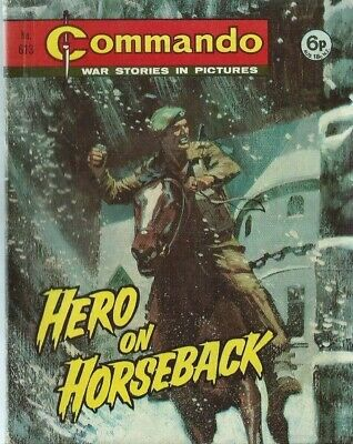 Hero On Horseback,commando War Stories In Pictures,no.613,war Comic,1972